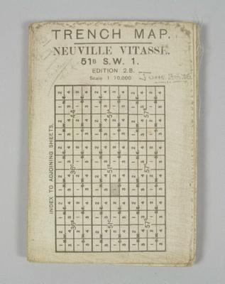 Map, 'Trench Map - Neuville Vitasse' ; Ordnance maker; 1916; GH021586