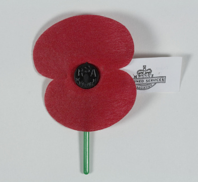 Anzac poppy ; Returned Services Association; Late 2000s; GH021294