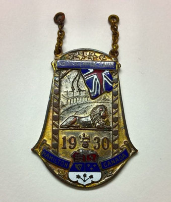 1930 British Empire Games Participation Medal; Klein and Blinkley Jewelers; 1930