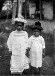 Portrait of two children; Crummer, George; circa 1914; B.027631