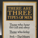 Poster, 'There Are Three Types Of Men' ;