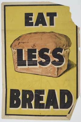 Poster, 'Eat Less Bread' ;
