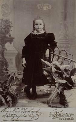 Girl; New Zealand Photographic Company; circa 1890; O.004080