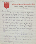 Letter of condolence ; George Cruickshank; 3 October 1918; GH011681/1