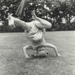 Young girl attempting handstand, Northland; Lee-Johnson, Eric; 1956; O.006832