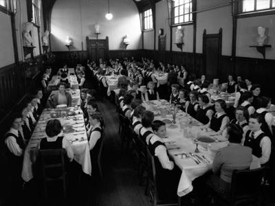 PHOTOGRAPH; Boarders at Table, Wanganui Girls College; Tesla Studios; 1946; 2001.1.17