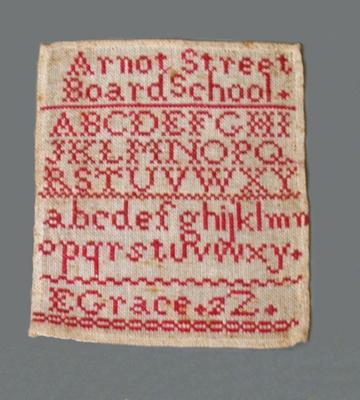 SAMPLER; Edith Grace; 1890-1900; 1984.31.1