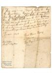 Letter from Hōani Wiremu Hīpango, Te Māwae and Hōri Kīngi Te Anaua; Hōani Wiremu Hīpango, Te Māwae and Hōri Kīngi Te Anaua; 1 July 1843; 1954.102