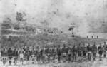 Arawa Flying Column drawn up outside Kaiteria . 1870; 315