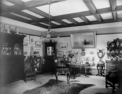 Drawing Room, Isel House c.1930; Cawthron Collection
