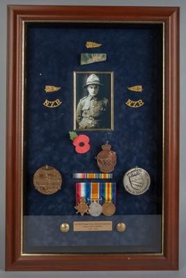 Medals, World War One, Private Victor Manson Spencer; Unknown Maker; Unknown