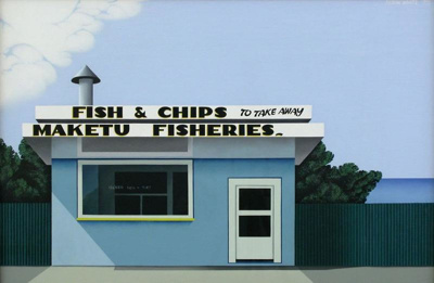 Fish and chips, Maketu, Robin White, 1975, 1975/30