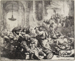 Christ Driving the Money Changers from the Temple, Rembrandt van Rijn, 1635, 1976/35
