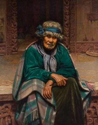 Memories: Ena Te Papatahi, a Chieftainess of the Ngapuhi Tribe, Charles F Goldie, 1906, 1952/16/1