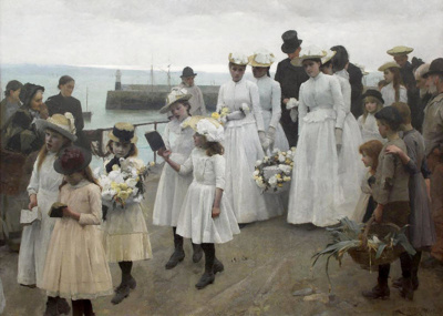 For of such is the Kingdom of Heaven, Frank Bramley, 1891, M1913/1