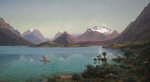 Lake Wakatipu with Mount Earnslaw, Middle Island, New Zealand, Eugène von Guérard, 1877-1879, M1971/1
