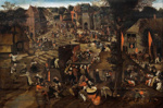 A Village fair (Village festival in honour of Saint Hubert and Saint Anthony), Pieter Breughel (The Younger), M1961/1