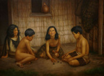 Maori Children playing Knucklebones, Gottfried Lindauer, 1907, 1915/2/21