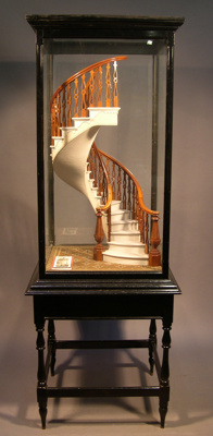 This model of a self-supporting circular staircase...