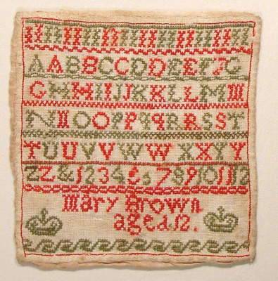 This is a characteristically colonial sampler. It ...