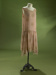 Dress; pink shift-style dress with gold 'flocked' pattern; 1993/1/243