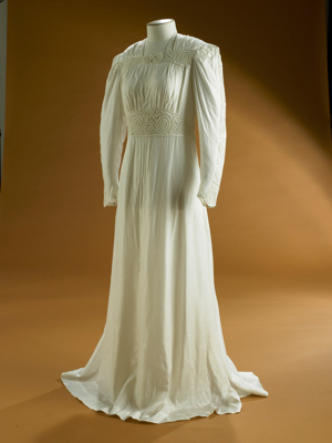 This dress was made by a Milton dressmaker for a w...