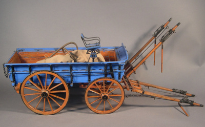 Model two-horse wagon, made by James Brown, circa ...