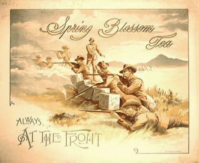 Poster, Spring Blossom Tea; Peter McIntyre, Caxton Printing Company; 1985/347/1