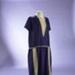 Purple silk shift dress with gold lace trim; 1920s; 2000/128/2