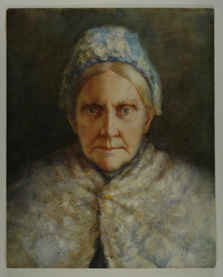 Anne Holmes, depicted in this watercolour portrait...