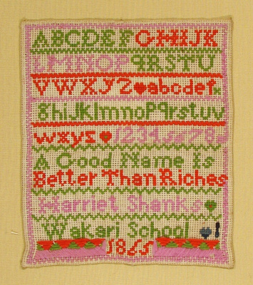 This sampler is a good example of the relatively p...