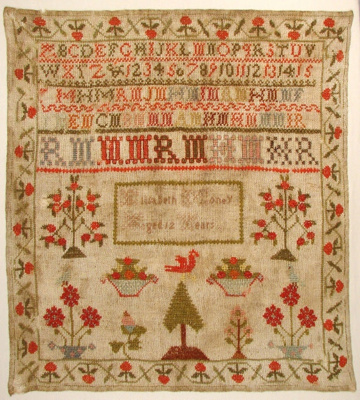 Here is a mid-nineteenth century Scottish sampler ...