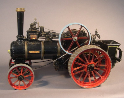 Model traction engine, made by Albert D. Oldham. 1...