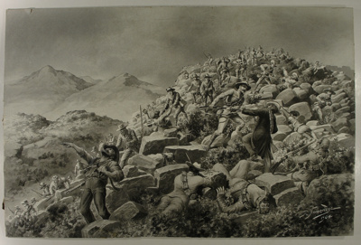 Battle scene, Boer War; Robert Hawcridge; 1904; 1906/19/1