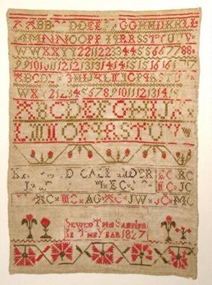 Sampler; 1827; 1957/130/6