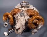 Ram's head snuff mull; CS/2551