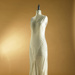 Dress; cream evening dress with silver beading; 1930s; 1995/189/19