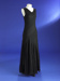Evening dress; black silk georgette with lace panels; 1930; 1954/125/2