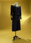 Blue day dress, circa 1948; 1987/353/22