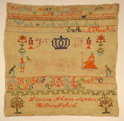 This sampler was worked at Bolton School in East L...