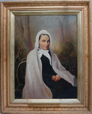 Oil painting of Mrs Thomas Cuddie (née Mary Parki...