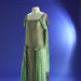 Evening dress; green silk with silver mesh; 1920s; 1985/166/2