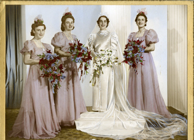 This wedding gown comes from the period of the '...