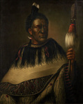 Chief Ngairo Rakaihikuroa in Wairarapa, New Zealand ; Gottfried Lindauer; 5-1924