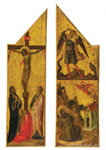 Two Wings from a Triptych ; Jacopo del Casentino; c 1340-1350; 123-1982