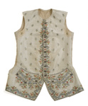 Man's silk waistcoat ; Unknown; 1750s; 183-1974
