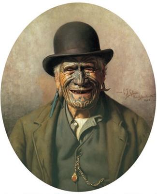 `All 'e Same t'e Pakeha' (Te Aho-o-te-Rangi Wharepu, Ngãti Mahuta) ; Charles Goldie; 1905; 3-1936
