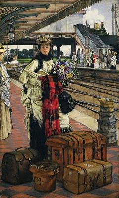 Waiting for the Train (Willesden Junction) ; Jacques-Joseph Tissot; c 1871-1873; 1-1921