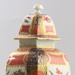 Dr Wall hexagonal lidded vase with Japanese style decoration