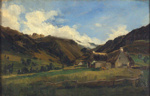 A Hilly Landscape in Auvergne ; Theodore Rousseau; c 1830-1831; 1-1955